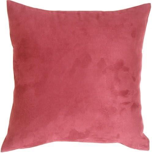 PILLOW D COR 19×19 Royal Suede Pink Throw Pillow
