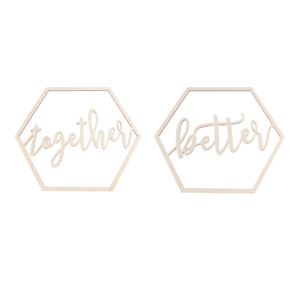 BESTOYARD 2pcs Wedding Chair Banner Better Together Wood Sign Wedding Photo Booth Prop Wedding Party Decoration