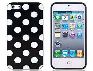 Delivery Time 20-30 Days Polka Dot Pattern TPU Protective Case for iPhone 5 (Black)