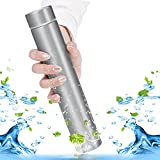 KepooMan 18/8 Stainless Steel Water Bottle Vacuum Insulated Thermos Leak Proof Vacuum Insulated Double-Walled Thermos Flask for Hot and Cold Beverages 250ml(8oz) (Silver)