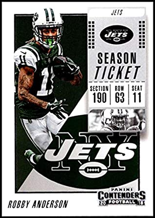 2018 Contenders NFL Season Ticket (Base)  27 Robby Anderson New York Jets  Official d965ab603