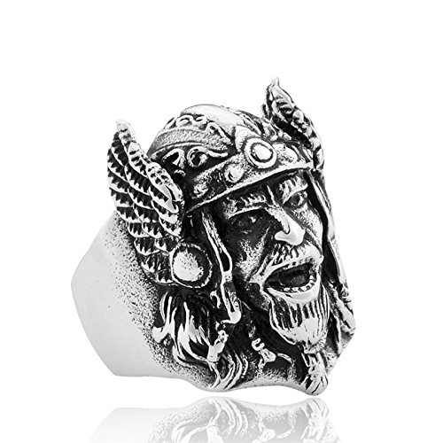 GDSTAR Personlity Retro Warcraft Zeus Odin-Nors Mythology Ring Men's Titanium Jewellery men jewelry 13.0