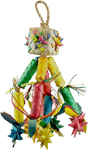 Planet Pleasures Parrot Pinata - Planet Pleasures Firecracker Pinata Bird Toy, Medium