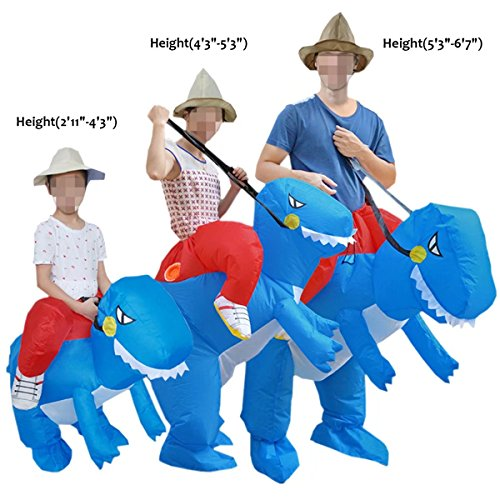 Ameyda Inflatable Dinosaur T-REX Fancy Dress Costume For Unisex (Luminous Fancy Dress Costumes)