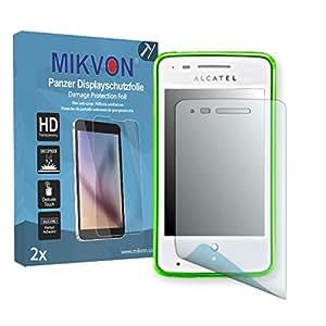 2x Mikvon Película blindada protección de pantalla Alcatel One Touch Fire C Protector de Pantalla - Embalaje y accesorios
