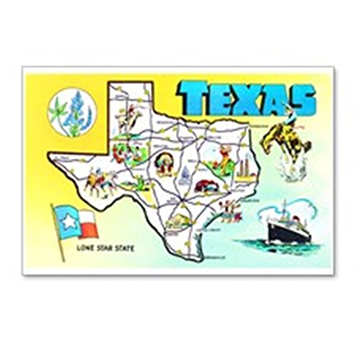 - CafePress - Texas Map Greetings - Postcards (Package of 8), 6