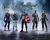 Captain America: Civil War - Autographed 6x by Cast REPRINT 8x10 inch Photo RP