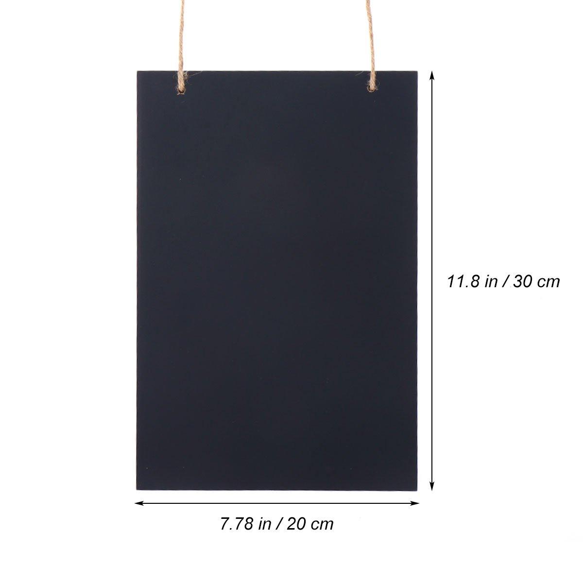 WINOMO Vintage Frameless Wooden Chalkboard Sign Rustic Decorative Hanging Blackboard 20x30x0.5cm