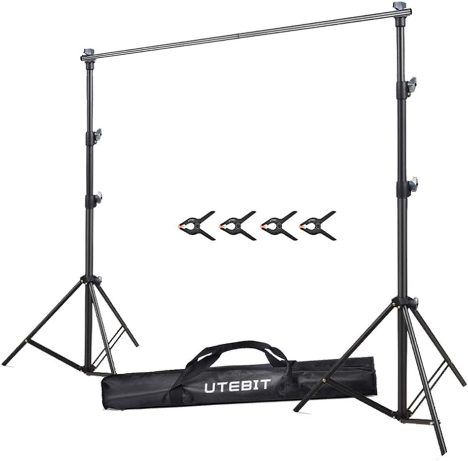 Amazon Com Utebit 7x5 Backdrop Stand Photography Collapsible Heavy Duty Photo Background Stand 2 X 1 5m Backdrops Support System For Photo Studio Portrait And Video Shooting Photography Camera Photo