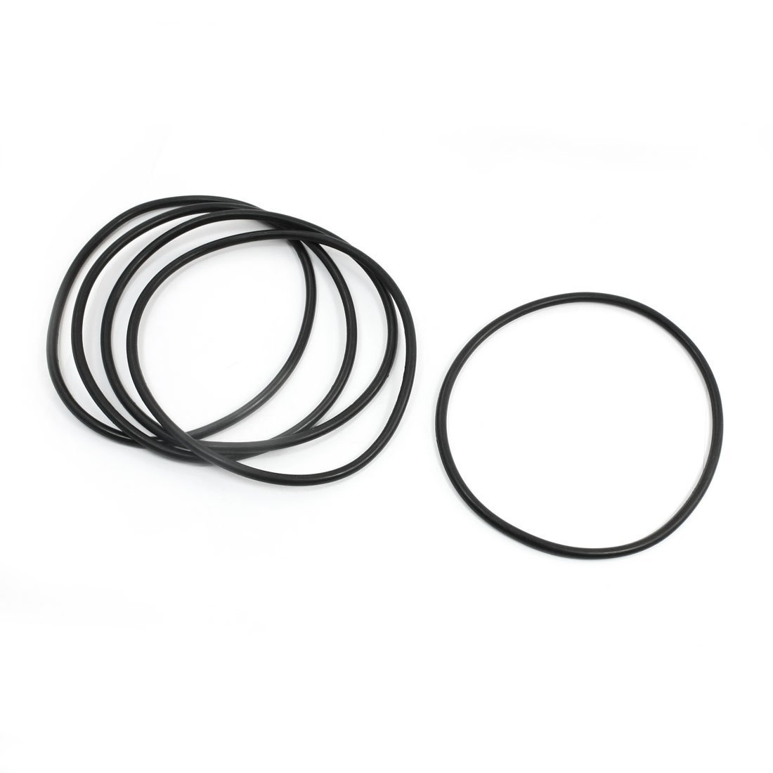 5 Pcs Flexible Rubber O Ring Seal Washer Gasket Black 135mm x 5mm DealMux DLM-B00LGJ3FHE