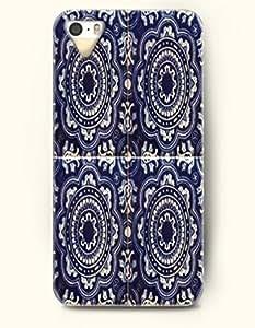 SevenArc Apple iPhone 4 4S Case Moroccan Pattern ( Dark Blue Symmetric Flowers )