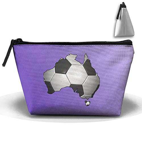Trapezoid Portable Travel Toiletry Pouch Football Soccer In Australia Cosmetic Bags Multifunction Clutch Bag -