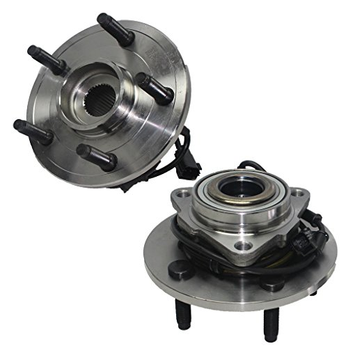 Detroit Axle - (2 Front Driver and Passenger Side Wheel Hub and Bearing Assembly for - 02-05 Dodge Ram 1500 w/ABS