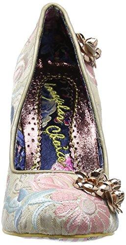 Irregular ChoiceSpeak Easy - Zapatos de Tacón mujer blanco roto