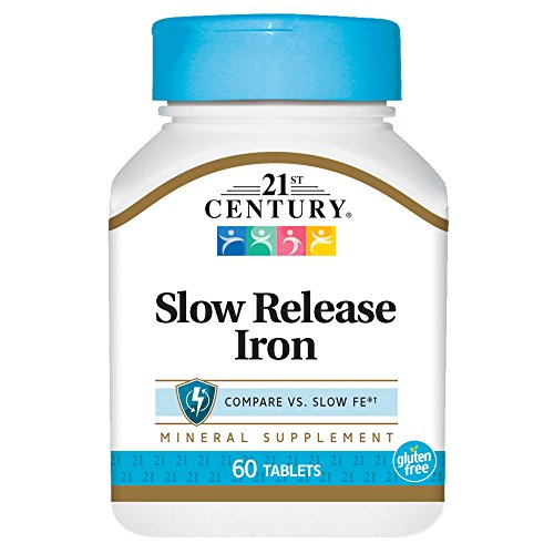 (21st Century Slow Release Iron Tablets, 60 Count (Pack of 3))