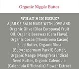Organic Nipple Butter Breastfeeding Cream by Earth Mama | Lanolin-free, Safe for Nursing & Dry Skin, Non-GMO Project Verified, 2-Fluid Ounce