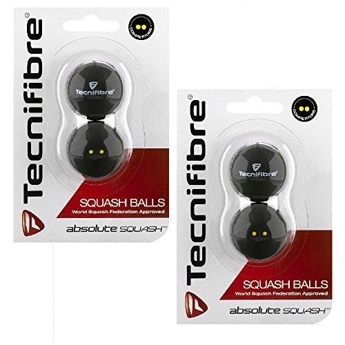 Tecnifibre Players (Tecnifibre Double Yellow Dot Squash Balls - 4 Pack)