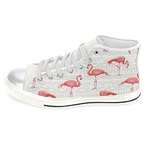 Le Scarpe Da Ginnastica Da Donna Di Alta Moda Casual Di Tela Di Alto Interesse Sono Scarpe Da Ginnastica In Pizzo Flamingo