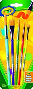 Crayola; Paint Brush Set; 5 ct.; Arts and Crafts, Variety of Shapes and Sizes