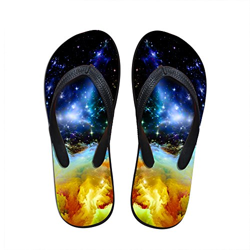 FOR U DESIGNS Stylish Lightweight Womens Mens Personalized Galaxy V Flip Flops Galaxy 7 BJzcyWMW