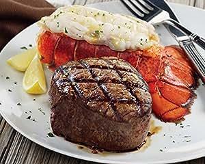 Kansas City Steaks 2 (8 oz.) Super Trimmed Filet Mignon & 2 (5 oz.) Lobster Tails