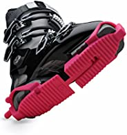 Ski Skooty Skiing Boot Traction Cleats - (1-Pair, Classic Version) - Adjustable Tracks Comfort Soles for Prote