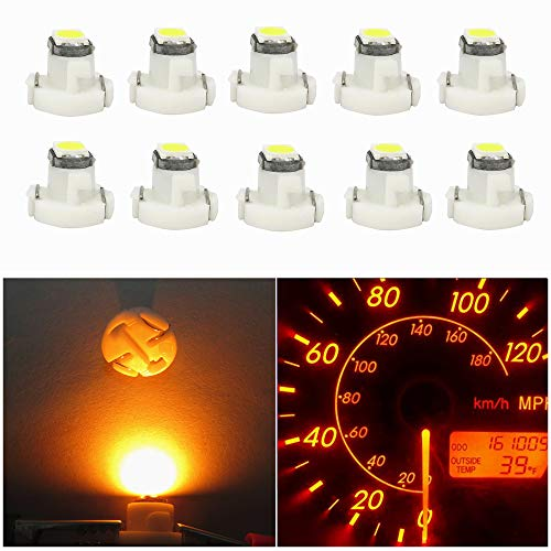 T3 8mm Neo Wedge LED SMD Red Dashboard Cluster Speedo Panel Interior Light Bulbs