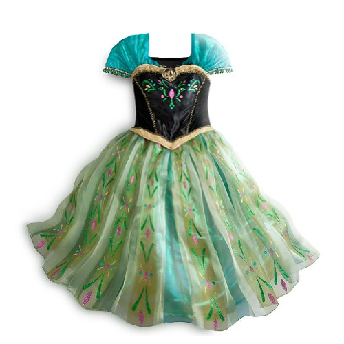 Disney Store Frozen Princess Anna Deluxe Coronation Costume Size Small 5/6 (5T) -