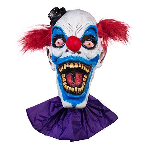 The Mask Biz Crazy Clown Head Mask Halloween - (Crazy Masks)