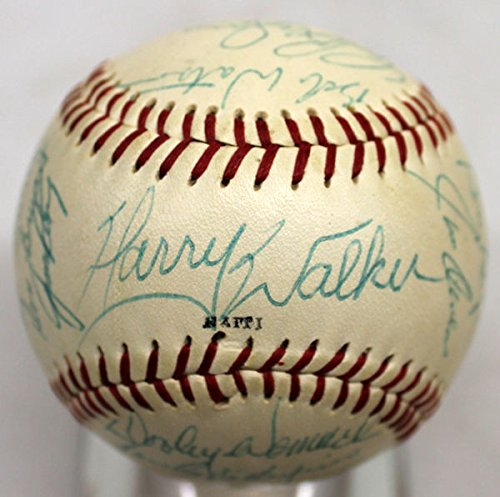 1969 Houston Astros Autographed Team Baseball Harry Walker, Blefray +20 Beckett Bas Autographed 1969 Team Mlb Baseball