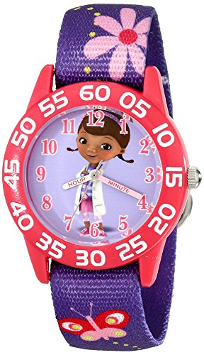 Disney Kids' W001956 Doc McStuffins Analog Display Analog Quartz Purple Watch