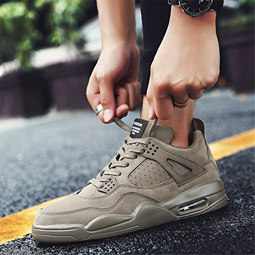 KRIMUS Herren Walking Sneakers Luftpolster Schuhe Atmungsaktive Laufschuhe von Khaki