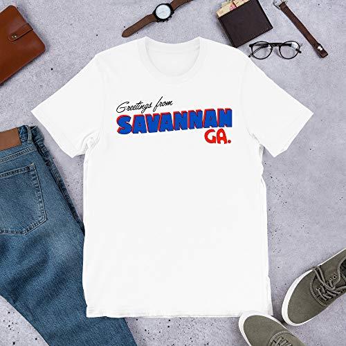 Salutations de Savannah Graphics Office tv Show Erin Andy Ellie Gift for Men Women Girls Unisex T-Shirt Sweatshirt (White-S)]()