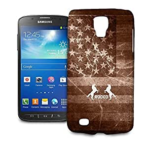 Phone Case For Samsung Galaxy S4 Active (i9295) - Vintage Rodeo Rustic Glossy Slim