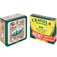 Crayola Vintage-Style Crayon Set with Collectible Tin, Stocking Stuffer Gift Set - 64 Count