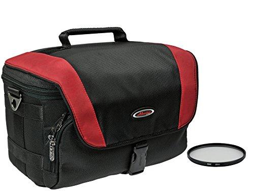 Foto Kamera Tasche Adventure Pro red-black im Set mit UV Filter 55mm für Sony Alpha 7 R II B mit Objektiv SEL 28-70mm KB