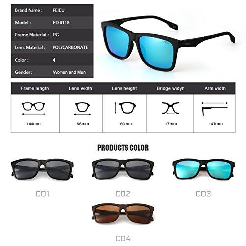 FEIDU Cocoons Fitovers Polarized Sunglasses Aviator (XL) Blue/Matte 3