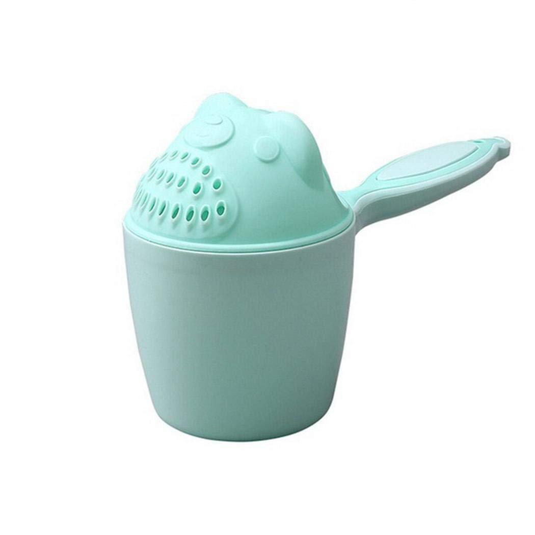 Sholdnut Baby Cartoon Bear Bath Waterfall Rinser Baby Shower Shampoo Cup Bailer Baby Shower Water Spoon Bath Wash Cup (Green)