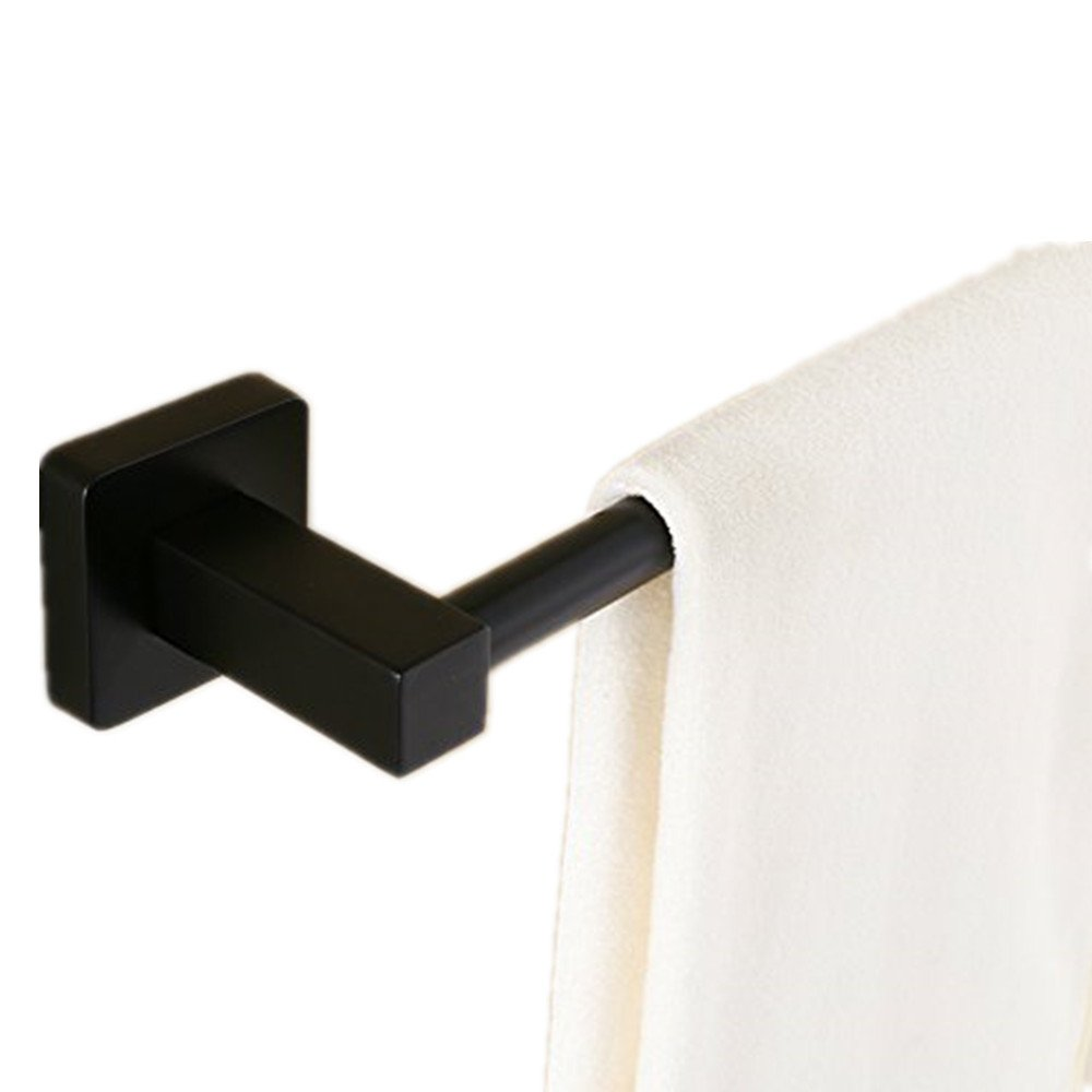 """AUSWIND Stainless Steel Black Oil Finished Towel Bar 23"""" Square Base Wall Mount Single Towel Rack HT27 high-quality"""