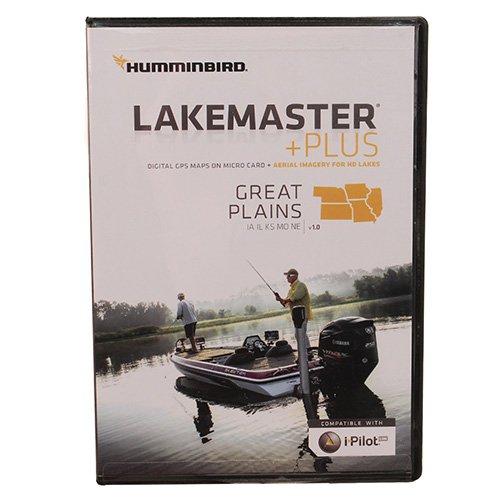 Humminbird LakeMaster Plus Great Plains Edition Digital GPS Lake and Aerial Maps, Micro SD Card, Version 1 by Humminbird