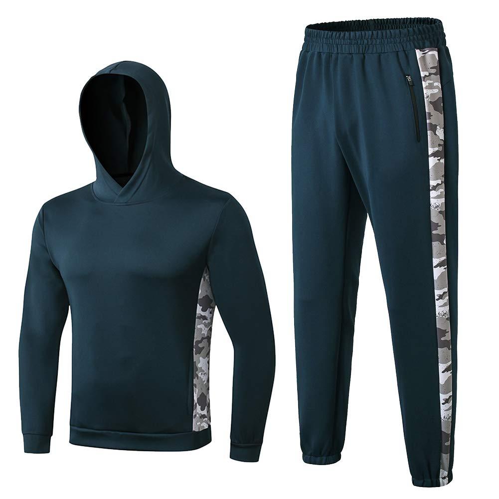 Shengwan Sportanzug Herren Casual Trainingsanzug Jogginganzug Langarm Kapuzenpullover + Jogginghose