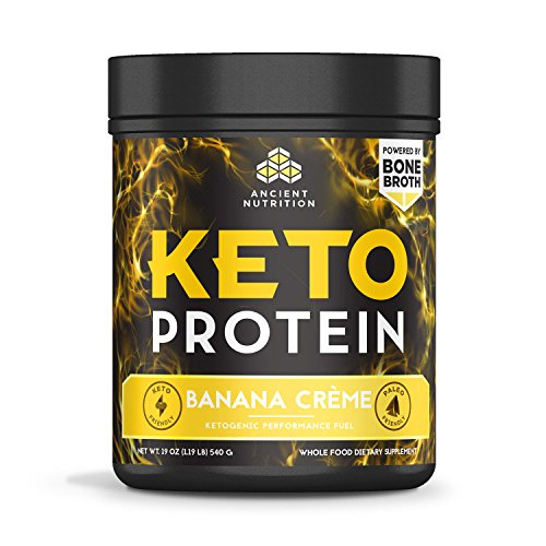toPROTEIN Powder Banana Creme, 17 Servings - Keto Diet Supplement, High Quality Low Carb Proteins and Fats from Bone Broth and MCT Oil (Diet Creme)