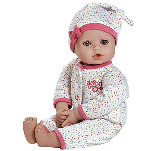 "Adora PlayTime Baby Dot Vinyl 13"" Girl Weighted Washable Pla"