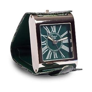 Rapport reloj despertador Adventura (Esfera verde. Cuero verde con cromo.) 8