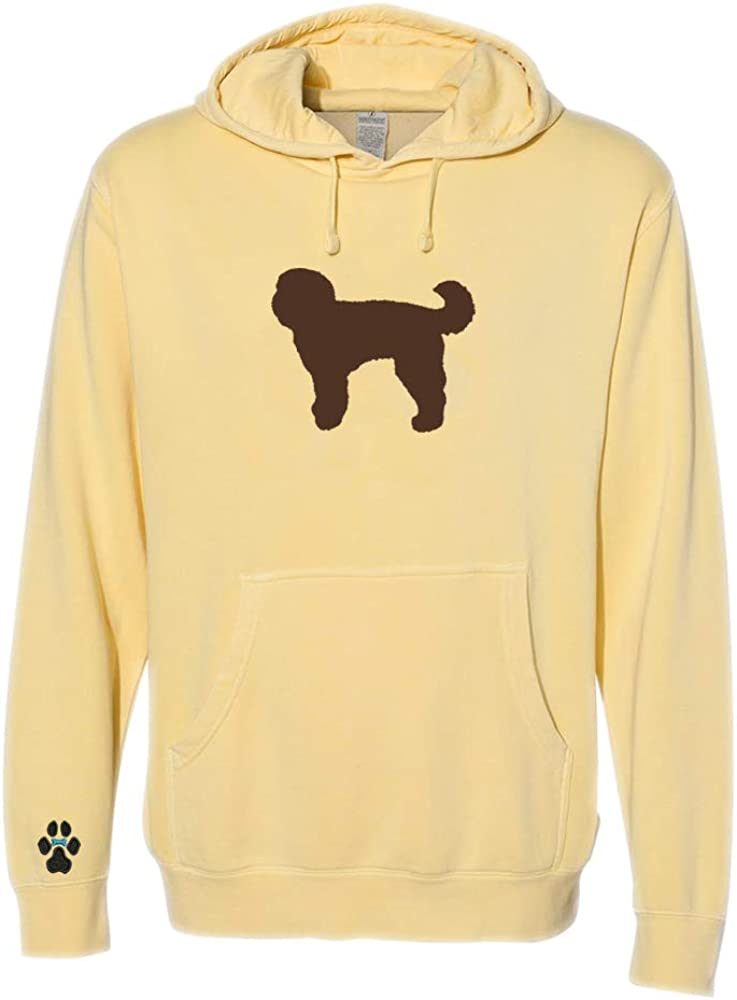 Heavyweight Pigment-Dyed Hooded Sweatshirt with/Labradoodle Chocolate Silhouette