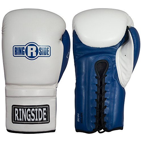 Ringside Lace IMF Tech Training Gloves, White, 14 oz