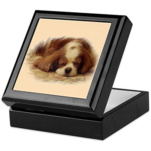 CafePress - Cavalier King Charles Spaniel - Keepsake Box, Finished Hardwood Jewelry Box, Velvet Lined Memento Box