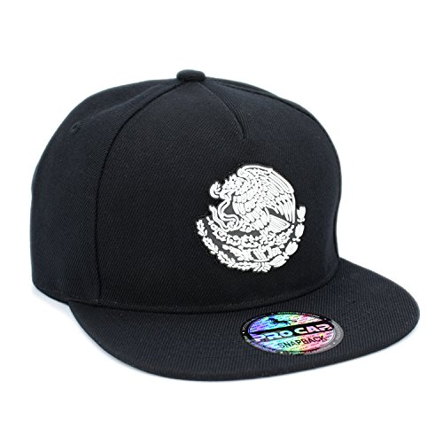 Jual Mexico Flag Eagle Rubber Patch Flatbill Adjustable Snapback Cap ... be2dd65855dc
