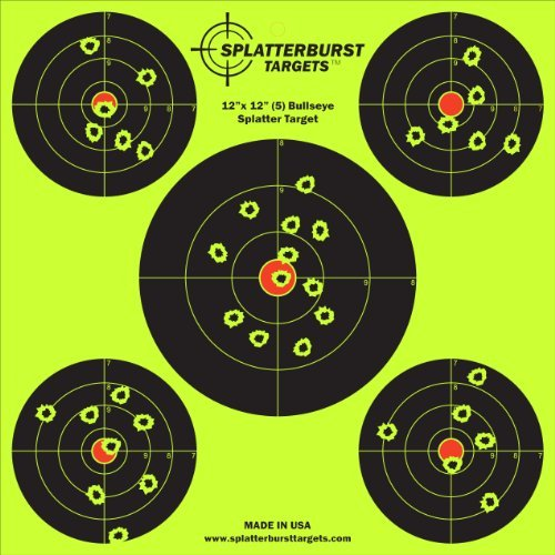 50-Pack-12-x-12-inch-5-Bullseye-Splatterburst-Shooting-Targets-Gun-Rifle-Pistol-AirSoft-BB-Gun-Pellet-Gun-Air-Rifle