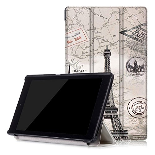 Price comparison product image For Kindle Fire HD Case,  HP95(TM) Fashion Leather Shell Case Cover For Amazon Kindle Fire HD 8 Inch Tablet (B)